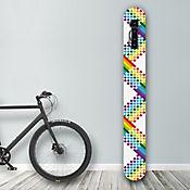 Soporte de Pared para Bicicleta Diseño Rainbow Squares