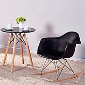 Silla Eames Mecedora 70x62.5x40 Negro