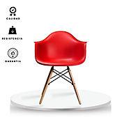 Silla Brazos Eames Adulto 58.5x62x80 Rojo