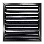 Rejilla Ventilación Aluminio Aletas Curvas 15X15 Negro