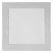 Rejilla Ventilación Aluminio Perforada Redonda 20X20 Gris
