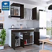 Mueble Superior Tensen 1.50 Metros 3 Puertas Wengue Blanco
