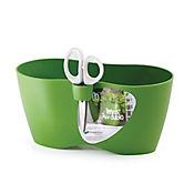 Jardinera Cocina 25x12x12cm + Tijeras Verde Oli