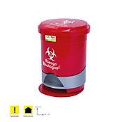 Papelera Pedal Redonda 12Lt Ref.130366 x 3Und Rojo