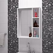 Mueble de Baño con Espejo 3 Niveles  53.5cm Ancho x 17.5cm Profundidad x 70.5cm Alto Blanco