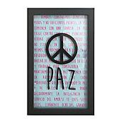 Cuadro Caja Negra 28X40cm Frase: Paz