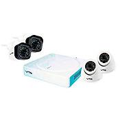 Kit DVR 4 Cámaras Full HD 1 Tera Canal Detección Facial