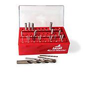 Calibrador de brocas en pulgadas de 1/2Pulg -1/16Pulg Rojo