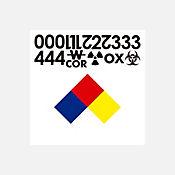 Señal Rotulado Sustancias Controladas 25X25 cm