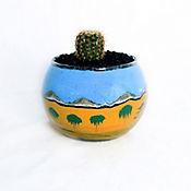 Terrario Cactus Paisaje Desierto Color 9X12cm