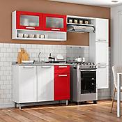 Cocina Integral Multipla 2.10 Metros Incluye Mesón Rojo