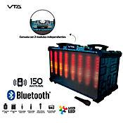 Amplificador Con Mezclador 150W Rms Con Luces LED