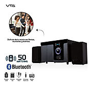 Minicomponente 50W Rms Bluetooth Radio FM