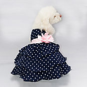 Vestido Mia para Perro Talla L Azul