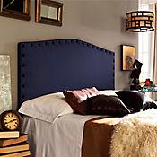 Combo Colonial Cabecero + Base Cama Doble Azul