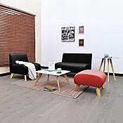 Juego de Sala Oslo Nova Negro/Rojo + Mesa de Centro