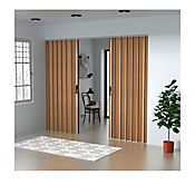 Puerta Plegable Madera Mdp 231-260x240 cm Ap. Central -Rovere