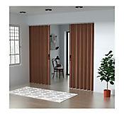Puerta Plegable Madera Mdp 501-530x240 cm Ap. Central -Espresso