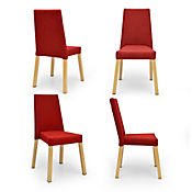 Set Sillas Viena x 4 Tela Plus 93x52x60 Rojo