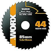 Disco de Sierra de 85mm 44t Worx Wa5035