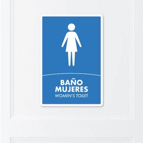 9cd1291aa1c1 Senal Bano Mujeres 22x15cm Poliestireno