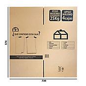 Caja Cartón C Largo36x Ancho36x Alto20cm