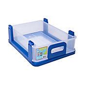 Cajón Apilable Pequeño Sin Tapa Azul
