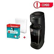 Combo Humidificador Evaporativo Digital 1.5 Galones Negro HEV620 + Filtro Antibacterial para Humidificador HEV620