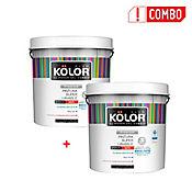 Pintura Superlavable Kolor Blanco 2.5Gl + Segunda Unidad A Mitad De Precio